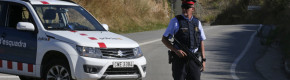 Police say man wearing suspected belt of explosives shot dead west of Barcelona