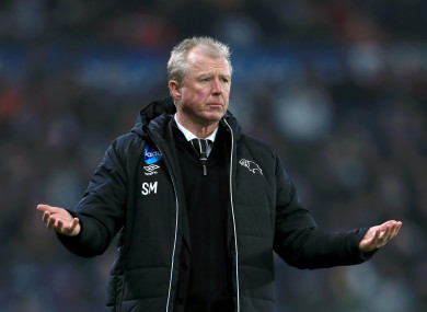 McClaren's last job was at Derby County.