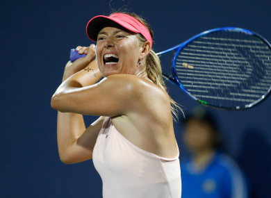 Sharpova will be back in action at the US Open.