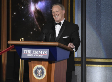 Sean Spicer at the Emmys.