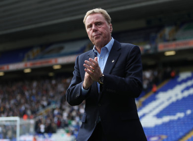 Birmingham City's manager Harry Redknapp.