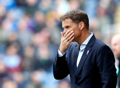 De Boer: four straight defeats to start the Premier League season without scoring.