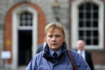 Sergeant Bridget McGowan, arriving at the Disclosures Tribunal at Dublin Castle today