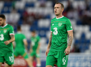 Midfielder Glenn Whelan, pictured above, had a difficult night in Tbilisi.