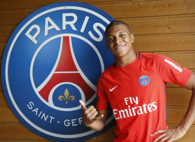 Kylian Mbappe recently signed for PSG.