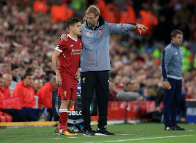 Coutinho came off the bench against Sevilla on Wednesday.