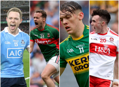 A big day for the footballers of Dublin, Mayo, Kerry and Derry.