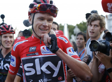 Chris Froome sealed the Vuelta a Espana title on Sunday.