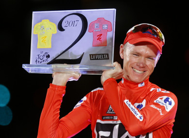Chris Froome won his second Grand Tour of the year with the 2017 Vuelta a Espana.