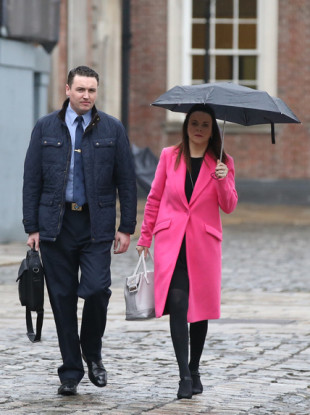 Garda Keith Harrison with his partner Marisa Simms.