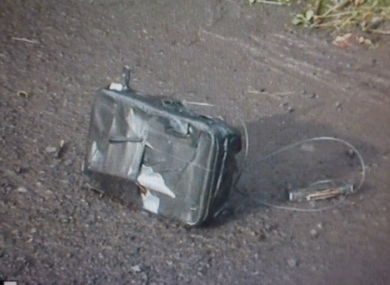 The bomb found at the home of the police officer