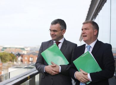 Fianna Fail Spokesperson on Finance, Michael McGrath and Spokesperson on Public Expenditure and Reform, Dara Calleary, as they published Fianna Fáil's Budget 2018 priorities.