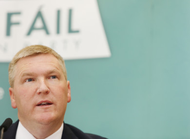 Fianna Fail Spokesperson on Finance, Michael McGrath