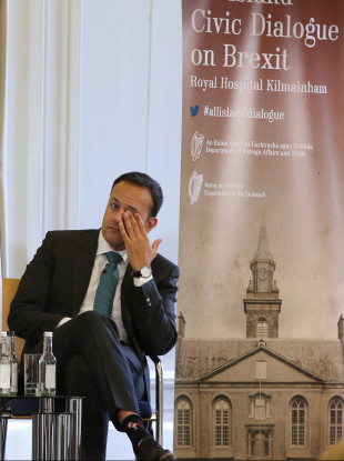 Taoiseach Leo Varadkar at the All-Island Civic Dialogue on Brexit last month.