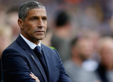 Brighton and Hove Albion boss Chris Hughton