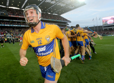 Colin Ryan celebrates Clare's All-Ireland win in 2013.