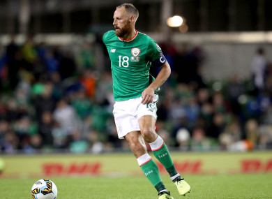 Meyler wearing the armband.
