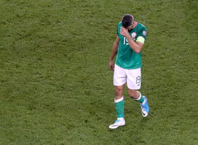 Jon Walters after the loss to Serbia.