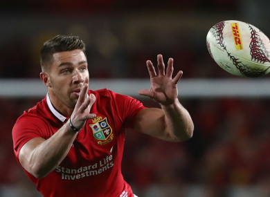 British and Irish Lions scrum-half Rhys Webb