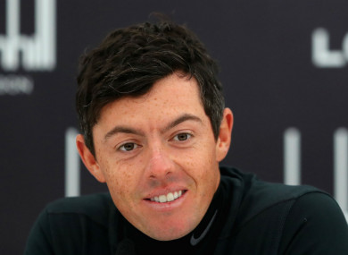 Rory McIlroy in St Andrews