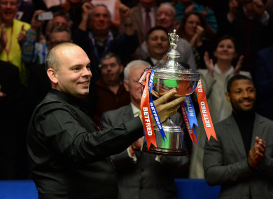 Bingham after winning at the Crucible in 2015.