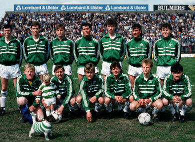 The 1986 FAI Cup-winning Shamrock Rovers side.