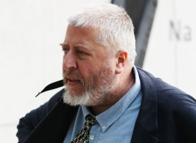 Tom Humphries arriving at court earlier this month