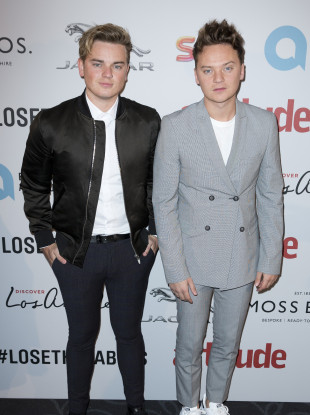 Jack Maynard (left) and his brother Conor Maynard attend the 2016 Attitude Awards.