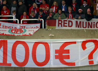 Bayern Munich fans at Anderlecht