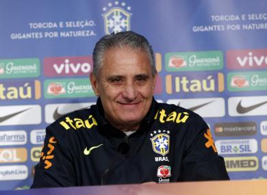 Brazil's coach Tite (file pic).