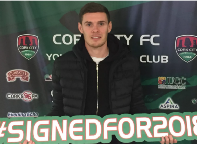 Buckley scored six goals in the league for Cork City in 2017.