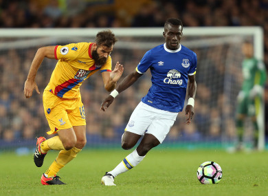 Idrissa Gana Gueye pictured against Crystal Palace in September.