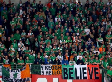 Irish fans have been warned not to buy tickets for the Danish section ahead of this weekend's World Cup play-off in Copenhagen.