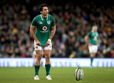 Carbery has played just 66 minutes at out-half all season.