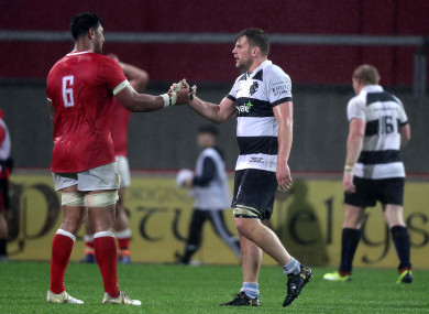 Jordi Murphy lined out for the Barbarians against Tonga on Friday.
