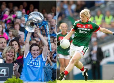 Dublin captain Sinead Aherne won her sixth medal while Mayo's Cora Staunton won her 11th award.