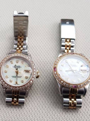 Seized Rolex watches