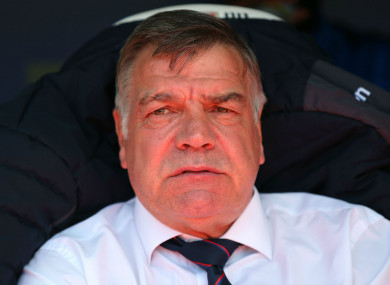 Former England and Crystal Palace manager Sam Allardyce.