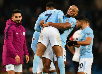 Manchester City manager was full of praise for Sterling.