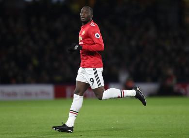 Lukaku fired a blank against Watford last night as United won 4-2.