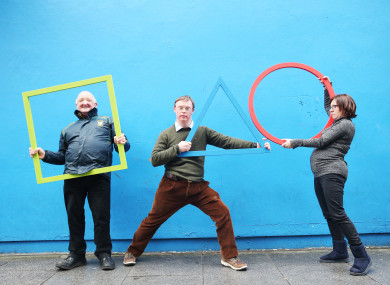 Pictured at the launch were Equinox Theatre Company members Jim Rohan, Shane Byrne and Belinda Henzey.