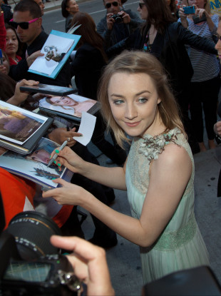 Actress Saoirse Ronan attends the premiere of Violet & Daisy.