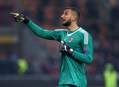 Gianluigi Donnarumma (file pic).