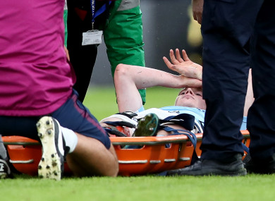 Kevin De Bruyne suffered an injury late on at Selhurst Park today.