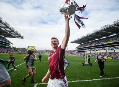 Galway's Joe Canning celebrates with the Liam MacCarthy Cup.
