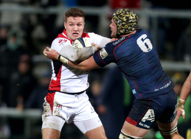 McPhillips in action against London Scottish in January.