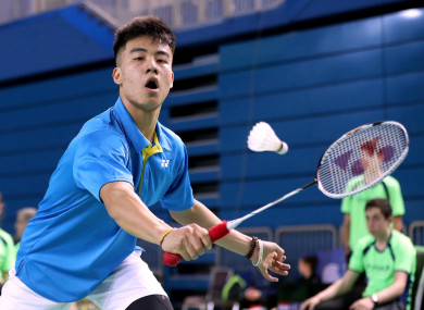 17-year-old badminton player Nhat Nguyen is regarded as one of Irish sport's best prospects.