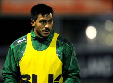 Ahki came off the bench to make his Connacht debut last week.