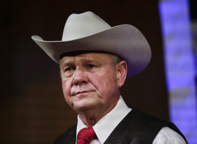 US Senate candidate Roy Moore