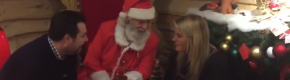 Santa in Arnott's helped a man propose to his partner, and it was just so lovely